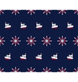 sea and nautical seamless pattern with ship vector image
