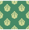 Seamless flourish pattern with dainty buds vector image vector image
