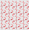 seamless pattern grunge heart shape frame with vector image vector image