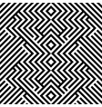 seamless pattern with black white striped lines vector image vector image