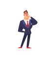 self confident businessman thinking over an idea vector image vector image
