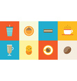set coffee elements and coffee accessories can vector image