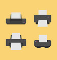 set of 4 printer flat icon vector image vector image
