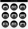 set of car icons vector image vector image