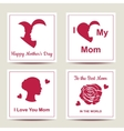 Set of cards with text for Happy Mothers Day vector image vector image