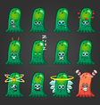 Set of cute cartoon monsters with different vector image vector image