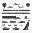 set of symbols transport vector image vector image