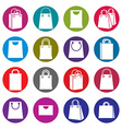 Shopping back icons isolated on white background vector image vector image