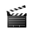simple icon of film slate - clapboard symbol vector image vector image
