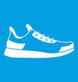 sneaker icon white vector image vector image