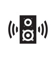 sound speaker black icon design music voice sign vector image