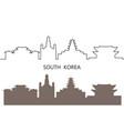 south korea vector image vector image