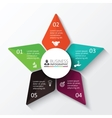 star for infographic vector image