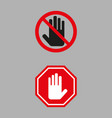 stop sign on gray background vector image vector image