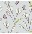 Stylized seamless pattern with flowers vector image vector image