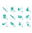 stylized smoking and cigarette icons vector image vector image