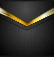 Technology corporate background with gold color vector image vector image
