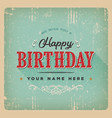 vintage birthday poster vector image