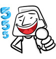 white man cartoon smiling vector image vector image