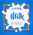 white milk splash blot drink element vector image vector image
