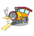 with menu train mascot cartoon style vector image
