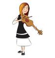 woman plying violin vector image