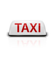 3d realistic white french taxi sign icon vector image vector image