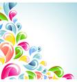 abstract color bright splash vector image vector image