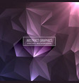 abstract dark purple background with triangle vector image vector image