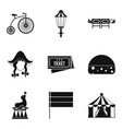bicycle show icons set simple style vector image vector image