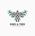 bird tree concept design template vector image