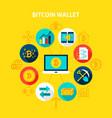 bitcoin wallet concept vector image vector image