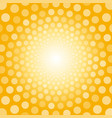 bright yellow background with white polka dots vector image vector image