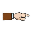 businessman hand pointing up gesture vector image