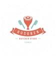 Butcher Shop Design Element vector image