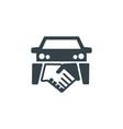 car deal concept logotype template design vector image vector image