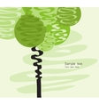 Card with stylized art tree vector image vector image