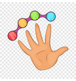 color buttons icon cartoon style vector image vector image