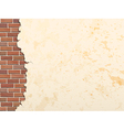 concrete wall and brick 380 vector image vector image