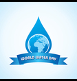 Creative World Water Day Greeting vector image vector image