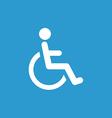 Cripple icon white on the blue background
