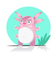 cute monster or alien isolated on white vector image vector image