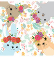 cute sweet animal and her crown vector image vector image