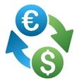 Dollar Euro Exchange Gradient Icon vector image vector image