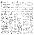 Doodle borderarrowsdecor element set vector image vector image