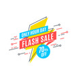 flash sale promotion banner flat design price vector image vector image