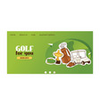 golf web page golfers sportswear and vector image vector image