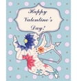 Happy Valentine Day card with Cupid vintage vector image vector image