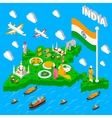 India Map Touristic Isometric Poster vector image vector image