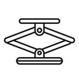 jack screw icon outline style vector image vector image